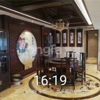 枫林蓝岸-中式古典风情-装修完工照片龙发装饰