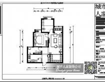 【鼎城2008小区】93平简欧风格效果图展示