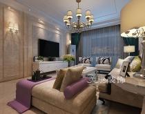 郑州民安北郡140平三室两厅装修美式风格效果图