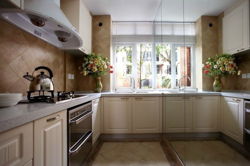 北欧清新的三室两厅厨房图片