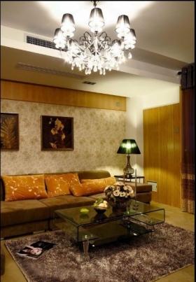 客厅设计冷暖色沙发背墙装饰装修效果图