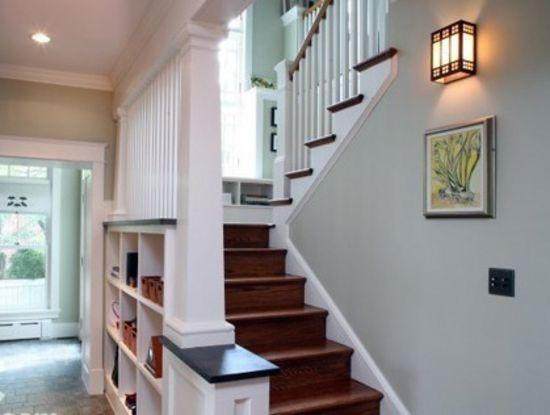 楼梯小空间大利用的装修效果,室内装修简约风格的经典使用.
