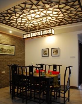 中式風格餐廳家庭室內裝修效果圖