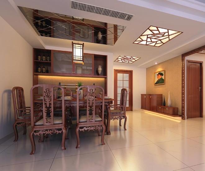 中式风格餐厅家庭室内装修效果图