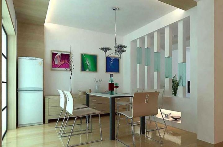 餐厅田园背景样板房装修_装修效果图-x团装修网广州做风格墙
