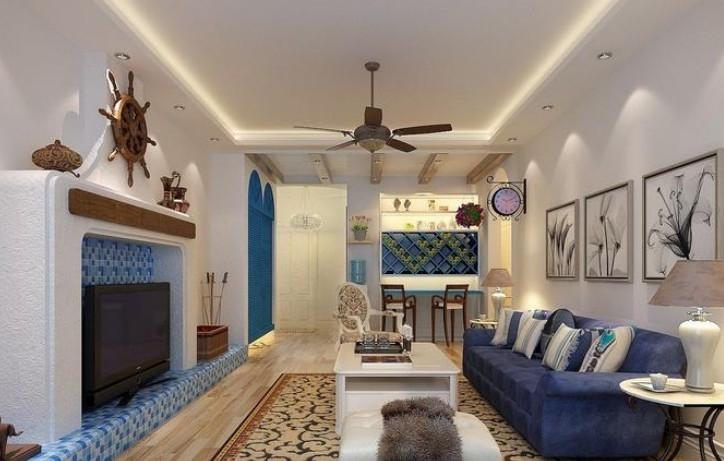 地中海风格 两室一厅装修效果图