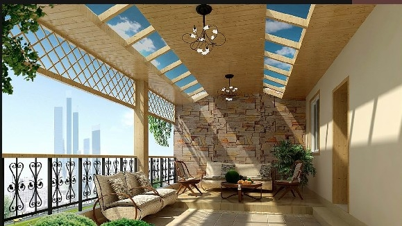 简欧家庭室内露台装修效果图