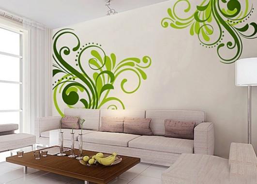 过去,装饰公司通常用手绘或并不复杂的造型来简单装饰沙发背景墙.