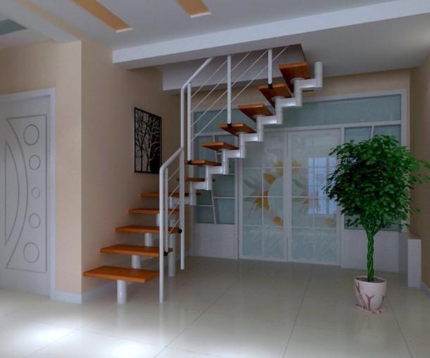 设计理念:在装饰装修中我们一定不要小瞧楼梯的重要性,一部好的楼梯,装修后不仅要美观耐用,还要最大化地让使用者感觉到舒适。关于楼梯不仅要设计的美观而且要设计的结实,让它成为一个既漂亮又安全的桥梁。 楼梯的首要功能是连接上下层空间,让人能够安全地来回走动。只有满足了这些需求,才能开始考虑美学以及是否能吸引人的眼球。安装楼梯犹如修一面承重墙,是非常重要的工程,一定要确保楼梯的位置正确,否则返工的话就麻烦了。