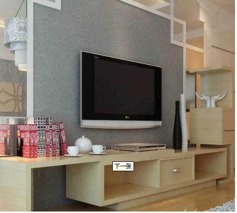 中式风格的电视柜设计看似不拘一格,实则充满巧思,优雅简洁的外型