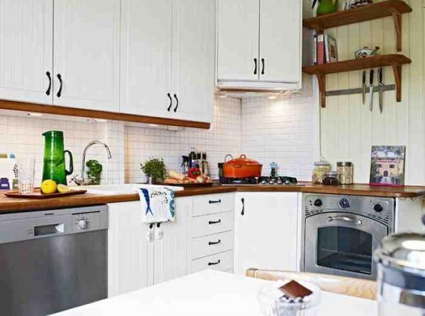 时尚简约敞开式厨房设计装修效果图