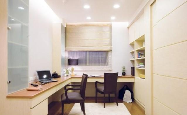 简单舒适的现代家居书柜装修效果图高清图片