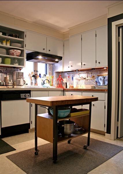 78平中式风格敞开式厨房装修效果图图片