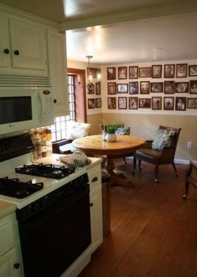 95平中式风格敞开式厨房装修效果图图片