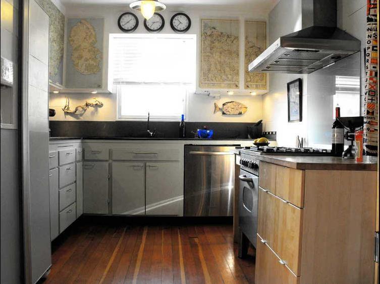 平 简欧 风格敞开式 厨房 装修效果图 X团装修高清图片