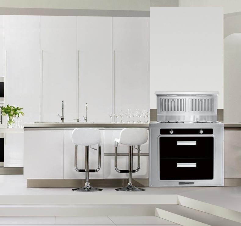 87平中式风敞开式厨房装修效果图图片