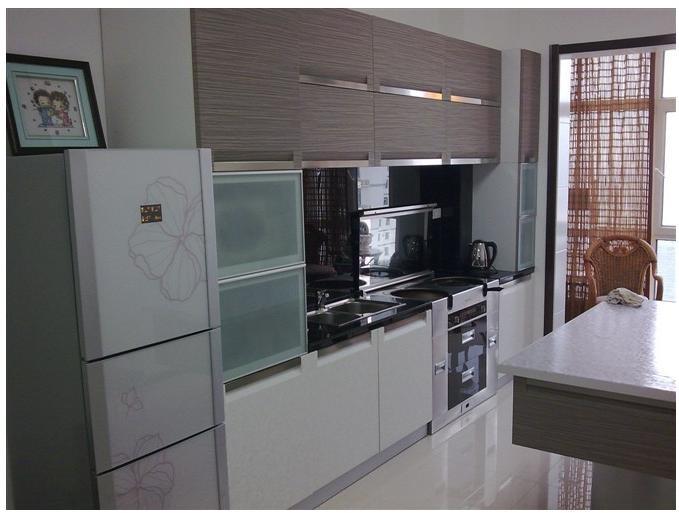 120平中式风格敞开式厨房设计_装修效果图-x团装修网图片