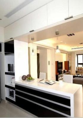 120平中式风格敞开式厨房设计装修效果图图片