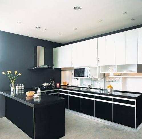 135平中式风格敞开式厨房装修效果图图片