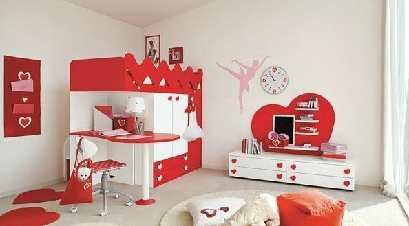 90平可爱儿童房 儿童床设计装修效果图