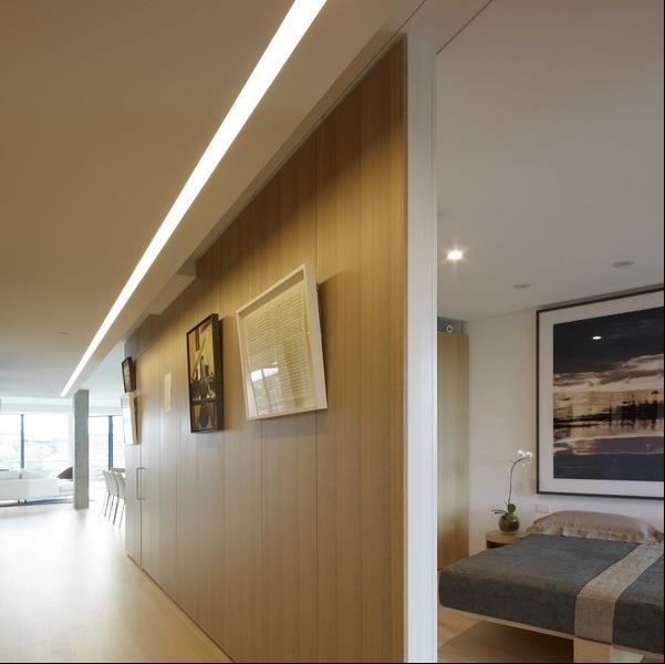 120平时尚客厅隔断设计装修效果图