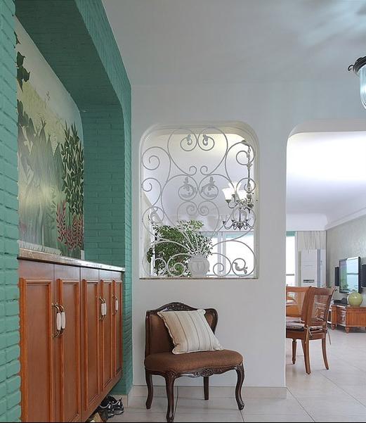 115平时尚客厅隔断设计装修效果图图片