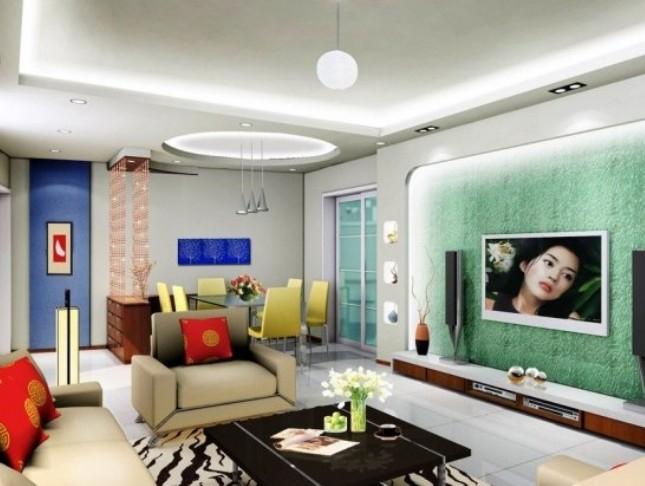 99平米生活之居影视墙设计装修效果图