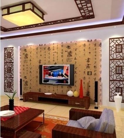 屏风 门窗 电视背花格 木格 木花架价格; 6款经典电视背景墙装修效果