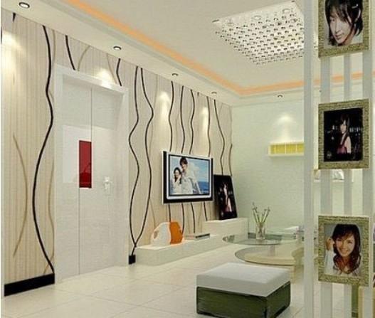 欧式风格影视墙设计装修效果图