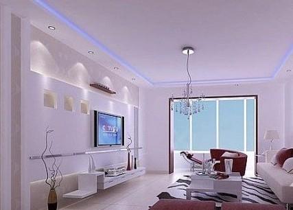 时尚风格影视墙 电视背景墙装修效果图高清图片