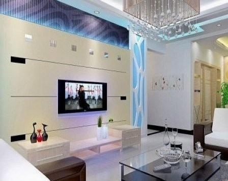 现代时尚影视墙 电视墙装修效果图