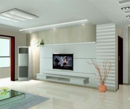 简约风格影视墙 客厅电视背景墙装修效果图