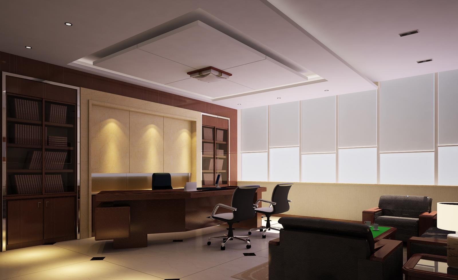 中西结合办公室设计装修效果图