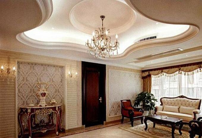 欧式风格客厅吊顶装修效果图