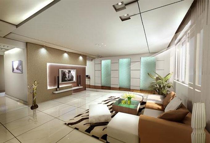 客厅天花板吊顶装修效果图