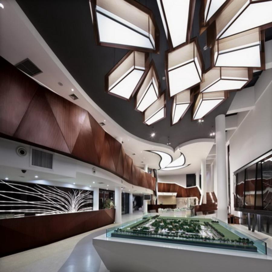室内设计图片的主题,设计师用干净简单得方法处理售楼部装修效果图