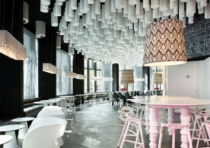 五星级酒店装修图片中一角得创意餐厅装修设计效果图,创意得餐厅设计图片