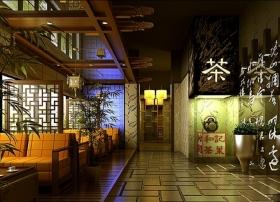 新中式茶楼设计茶馆装修效果图图片