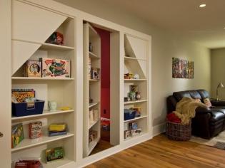 现代一居室隔墙柜设计