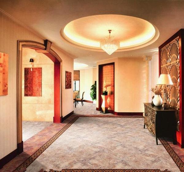 中式别墅客厅装修效果图 客厅装修效果图 客厅设计装修效果图 原生态