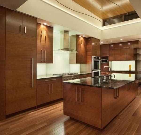 法式风格开放式厨房图片
