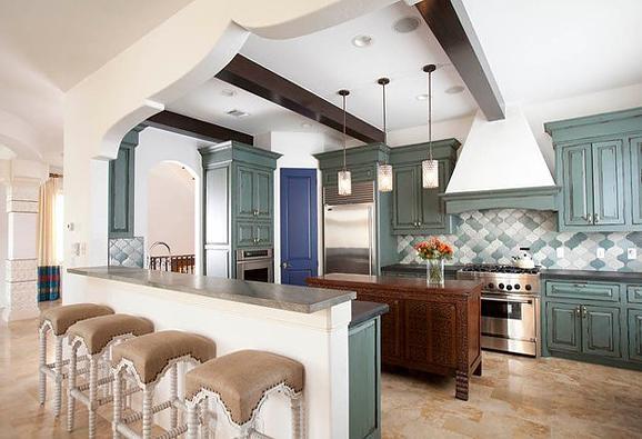 小户型开放式厨房吊顶设计