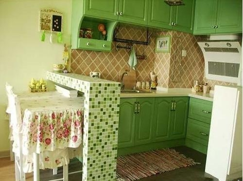 简欧风小清新厨房设计