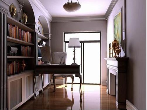 欧式怀旧书房装修设计