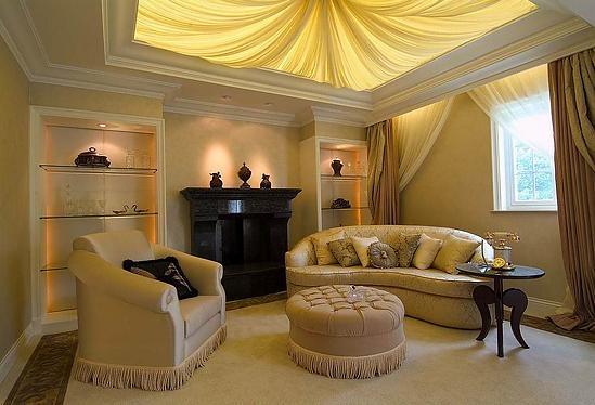 四居室简欧风格客厅_简欧风格客厅吊顶图片