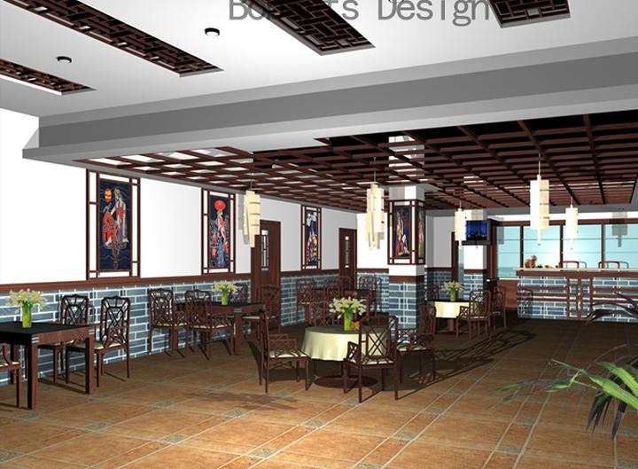 雅致实用饭馆设计