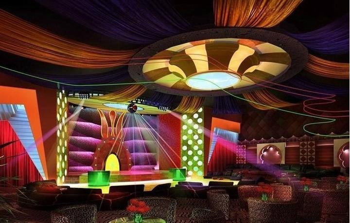 时尚简约歌舞厅设计装修效果图