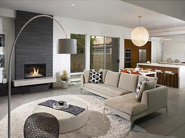 120平米大户型客厅设计装修效果图
