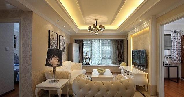 欧式风格三室一厅设计装修效果图