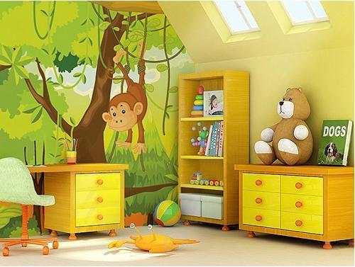 儿童卧室墙绘欣赏装修效果图